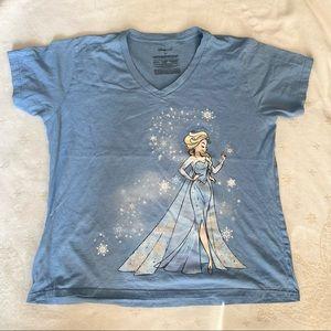 Disney Elsa Size 2X T-shirt Blue